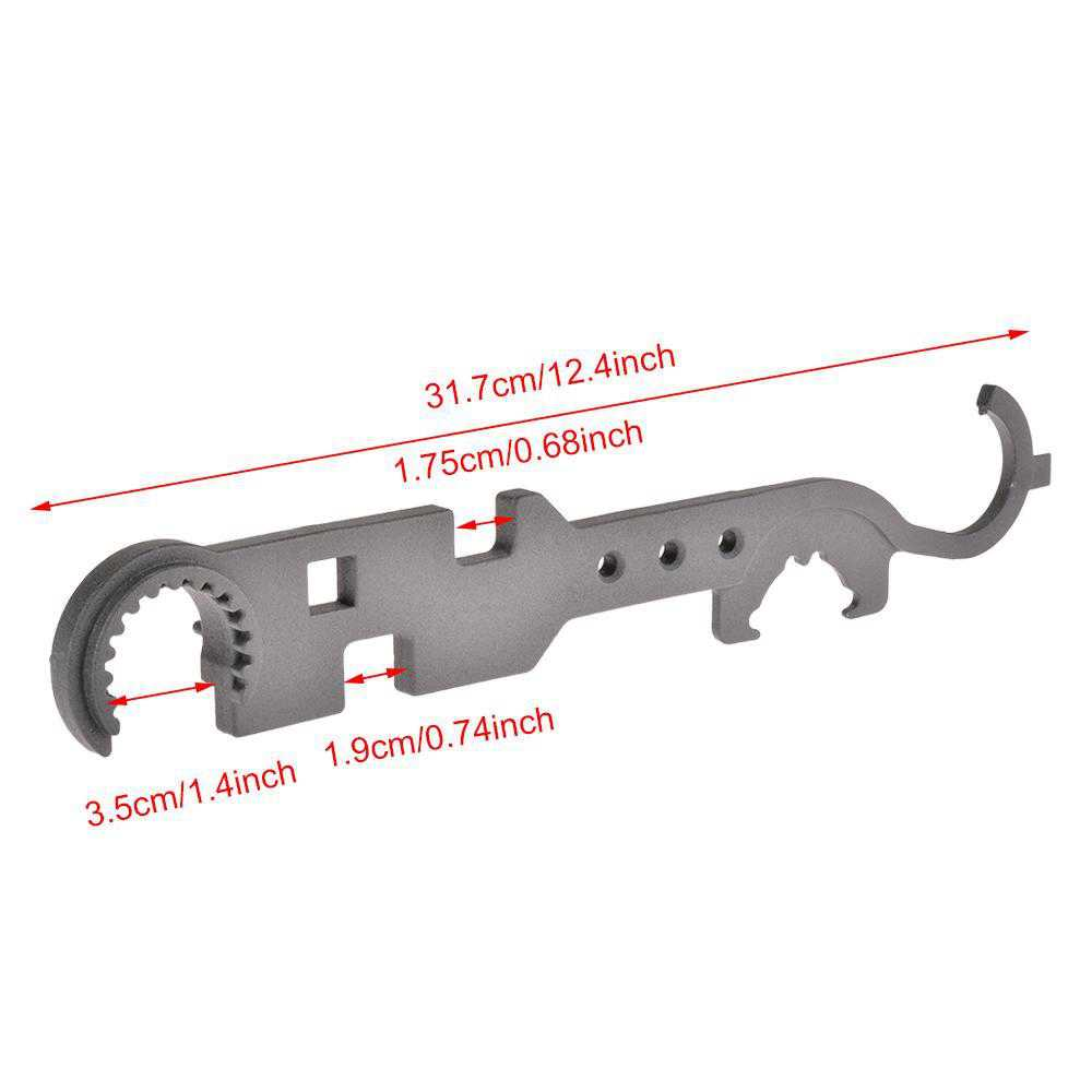 Multi-Function Wrench Combo Armorer Wrench Tool Multi Combination AR Wrench KRGL