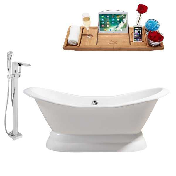 Cast Iron Tub, Faucet and Tray Set 72' RH5180CH-100