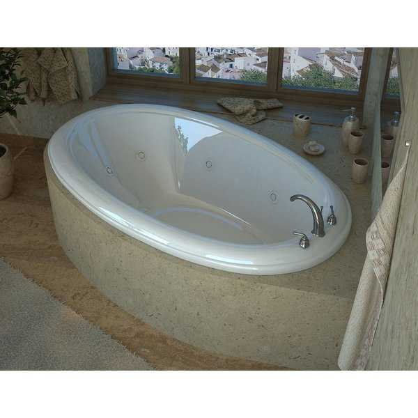 Avano AV4478PCWL Anguilla 78' Acrylic Whirlpool Bathtub for Drop-In Installations with Center Drain - White