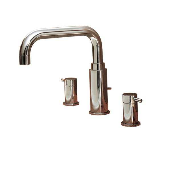 American Standard 2064.9 Double Handle Roman Tub Faucet with Metal Lever Handles from the Serin Collection (Less Hand Shower)