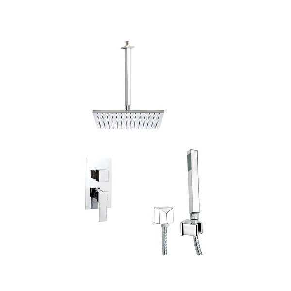 Nameeks SFH6507 Remer Shower System with Single Function Rain Shower Head, Hand Shower, Hand Shower Holder, and Rough In