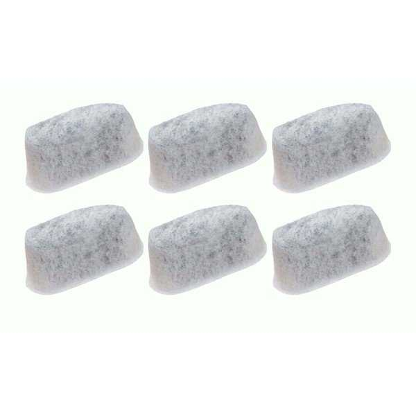 6pk Replacement Charcoal Filters, Fits Capresso CoffeeTeam TS & GS 4640.93 Team, Compatible with Part 465 & 464