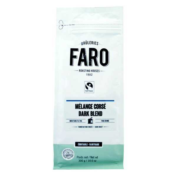Faro Dark Blend Filter Grind Coffee 10-ounce Dark Roast Organic and Fair Trade 100-percent Arabica Coffee