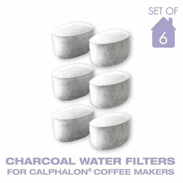 GoldTone Charcoal Water Coffee Filter Cartridges, Replaces Krups Calphalon Style Water Coffee Filters- Set of 6