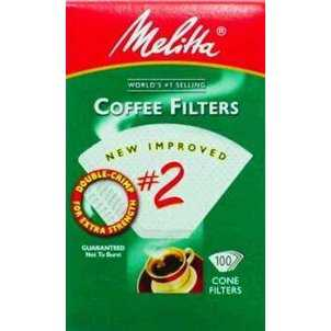 Melitta 622712 Cone Coffee Filters, 100 Count, White